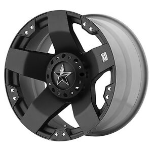20x10 Black Wheels Xd775 Rockstar 1994 2018 Lifted Dodge Ram 1500 5x5 5 24mm