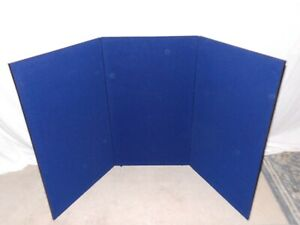 Skyline Nimlock 3 Panel Blue Tradeshow Tabletop Display Portable