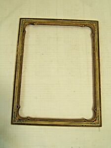 Art Nouveau Wood Picture Frame Gold Gilded Hand Painted Flowers