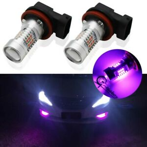 2x Pink Purple H11 H8 21 Samsung Led Bulbs For Driving Fog Lights Drl High Power