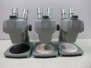 Lot Of 3 Bausch Lomb Stereo Zoom Microscopes 7x 3x W Eye Pieces