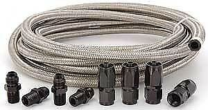 Automatic Transmission Cooler Line Kit 6an Steel Braided Hose Ford Aod
