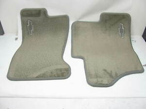 Oem Gm Front Floor Mats W bow Tie Logo 12496246 For Various Gm Gmc Trucks