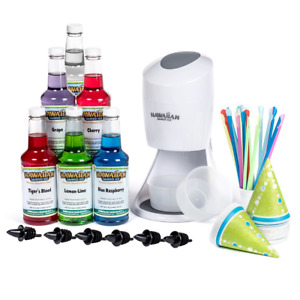 Hawaiian Shaved Ice Machine And Syrup 6 Flavor Party Package Includes S900a 6