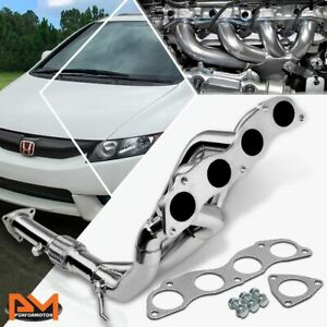 For 06 11 Honda Civic Si 2 0 Fg2 Fd3 Fd4 S Steel Tri Y Exhaust Header Downpipe