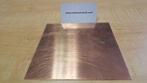 18 Ga Copper Sheet Metal Plate 6 X 12