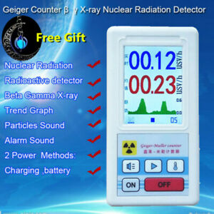 Nuclear Radiation Detector Beta Gamma X ray Tube Geiger Counter Marble Testers