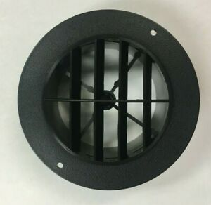 4 Black Round Rotaire 5 1 2 Face Grille Heat Ac Air Duct Outlet Vent 3840bk Rv