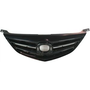 Grille For 2003 2005 Mazda 6 Textured Black Plastic