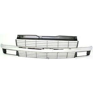 Grille 95 25 For Chevy Astro Silver W Chrome Center Bar W Composite Headlight