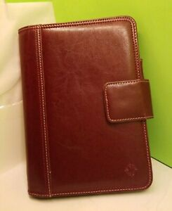 Franklin Covey Brown Leather 7 Ring Planner Binder Very Nice Free Shipping