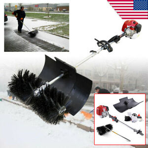 52cc Gas Power 2 Stroke Sweeper Hand Held Broom Cleaning Driveway Turf Grass Hot