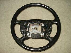 Ford Mustang 1994 98 Leather Steering Wheel W Switches Oem Black