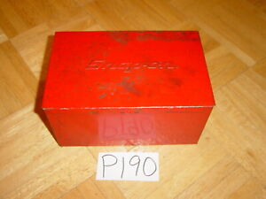 Snap On Tools Vintage Empty Red Metal Box Kra111a 1984 4 5 8 Inch