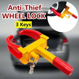 Wheel Lock Clamp Boot Tire Claw Trailer Auto Car Truck Anti Theft Towing Suv Van