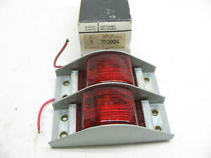 X2 Vintage Dominion 712004 Armored Red Side Marker Lights