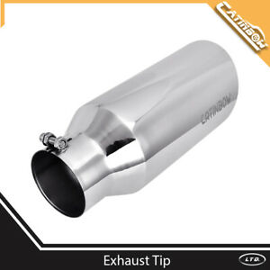 Diesel Stainless Steel Exhaust Tip Angle Cut 4 Inlet 6 Outlet 15 Long