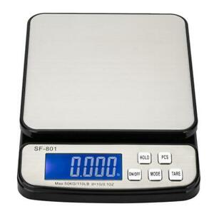 110 Lb X 0 1oz All in one Digital Postal Shipping Scale 50kg X1g With Ac Adapter