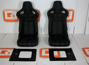 Leather Corbeau Rear Forward Facing Seats Fits Land Rover Defender 90 110 Tdci