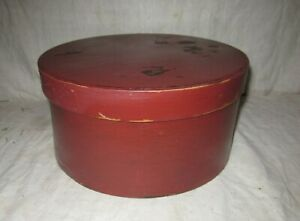 Early Red Painted Pantry Box