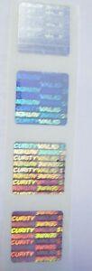1000 Svag 3 4 Square Hologram Product Protection Security Labels Sticker Seals