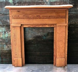 New Orleans Arts And Crafts Mantle Reclaimed Antique Fireplace Surround Cypress