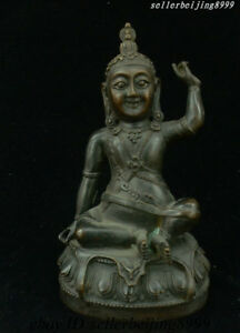 9 China Buddhism Temple Bronze Kuan Yin Guan Yin Goddess Avalokitesvara Statue