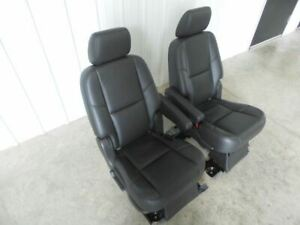 2013 Yukon Denali Xl Second Row Seats Black Leather 492631