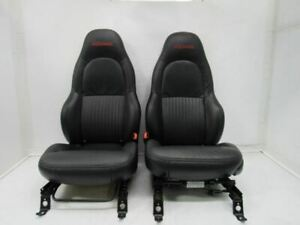 01 04 C4 Corvette Front Seats Bucket Seat Left Right Pair Leather Tan Electric