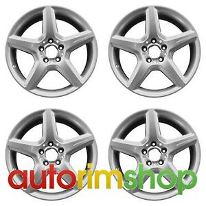 Mercedes E350 E550 2007 2009 18 Oem Amg Staggered Wheels Rims Set