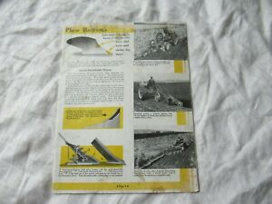 International Harvester Genius Plow Farmall Tractor H M W 4 Brochure