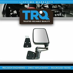 Trq Manual Side View Mirror Folding Driver Left Lh New For 87 02 Jeep Wrangler