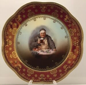 Antique Royal Vienna Austria Porcelain Portrait Plate 8 1 2