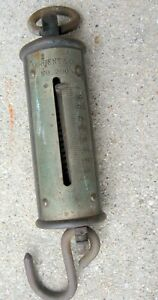 Antique Hanging Spring Scale Sargent Co 200 Lb Working