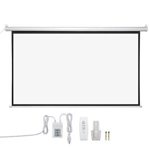 92 16 9 Electric Auto Motorized Projector Screen Projection With Remote Control