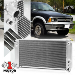 Aluminum 3 Row Performance Radiator For 96 03 Chevy S10 Blazer Gmc Jimmy Sonoma