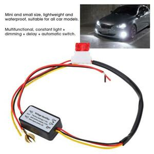 Car Led Daytime Running Light Relay Harness Drl Control On Off Auto Dimmer