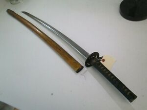 Old Japanese Samurai Sword Katana Unsigned Wscabbard Old Koto Blood Groove L203