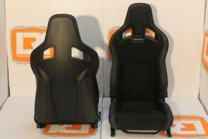 Part Leather Suede Recaro Pair Of Front Seats Fits Land Rover Defender 90 110