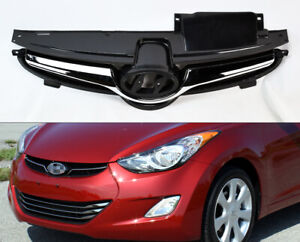 Chrome Front Bumper Hood Replacement Grill For Hyundai Elantra 2011 2013