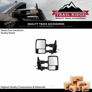 Trail Ridge Tow Mirror Manual Glass Upgrade Power Fold Textured Smooth For F150