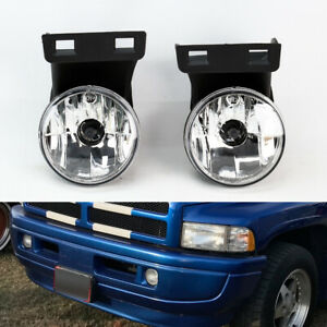 Front Bumper Fog Lights Kit Pair Rh Lh For Dodge Ram 1500 2500 3500 1994 2001