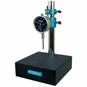 Fowler 52 580 109 Granite Gage Stand W dial Indicator height 8