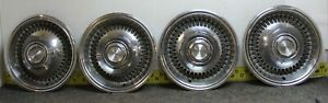 Oem Set Of 4 15 Hub Caps Wheel Covers 1974 1978 Chrysler Dodge Plymouth 1655