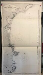 South Coast France And Spain Navigational Chart Hydrographic Map 1804