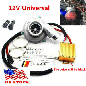 Electric Turbo Supercharger Turbocharger Kit Air Filter Intake For Universal Usa