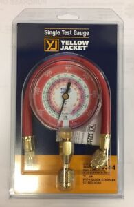 Yellow Jacket Red Gauge r22 r410a r404a W 12 Hose Q c 40344