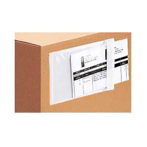 500 Clear Packing List Invoice Envelopes 6 5x10 Self Adhesive Super Sticky