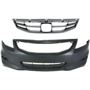Bumper Cover Kit For 2011 2012 Honda Accord Front Coupe