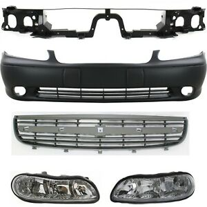 Bumper Cover Kit For 2000 2003 Chevrolet Malibu And Classic Base Ls 5pc